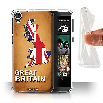 STUFF4 Gel/TPU Case/Cover for HTC Desire 820q Dual/Great Britain/Flag Nations