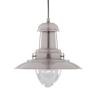 4301SS Fisherman pendant Light, Satin Silver