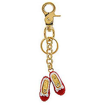 Butler og Wilson Red Crystal Dorothy sko nøglering