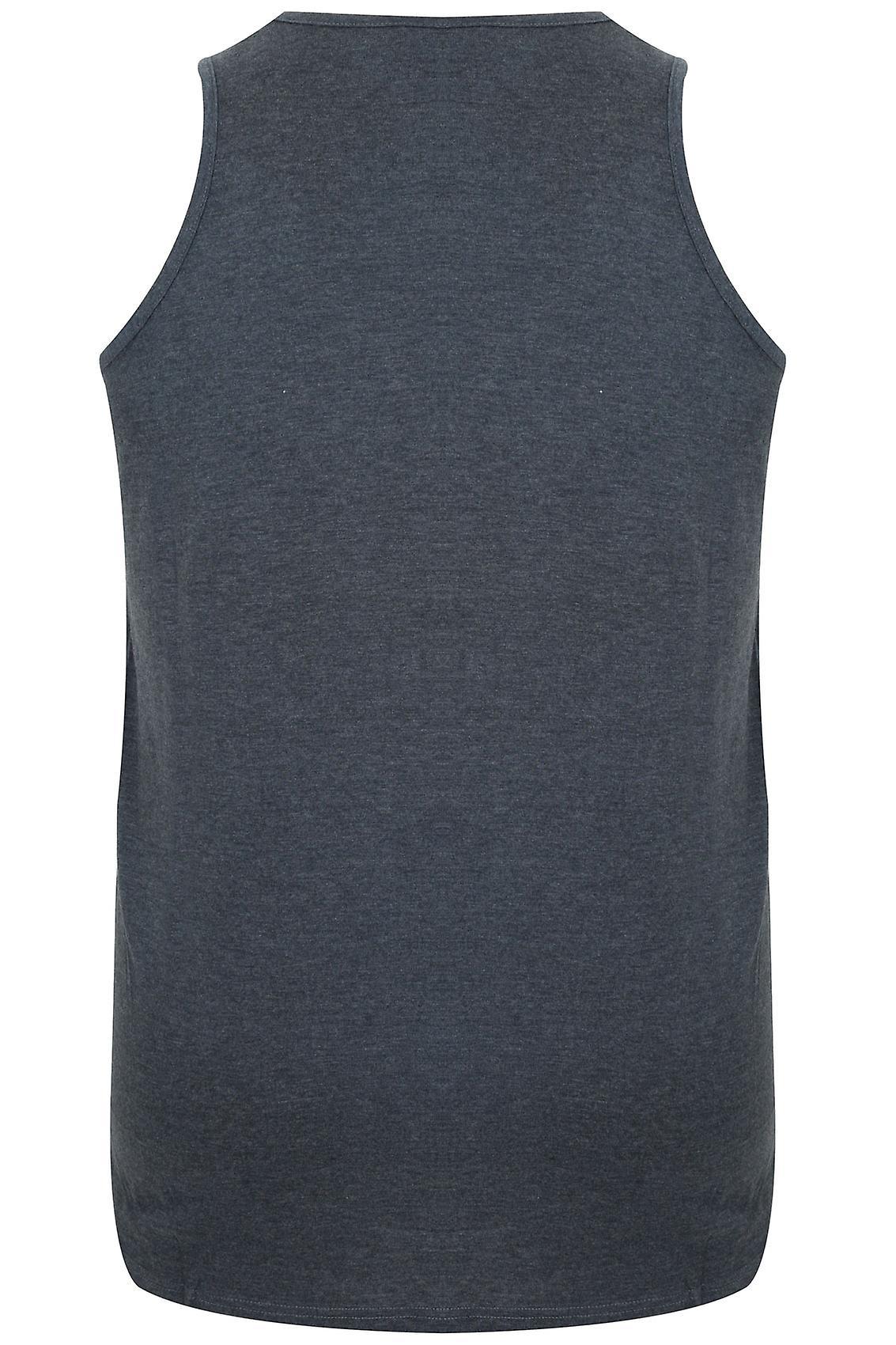 D555 Charcoal Marl Crew Neck Vest