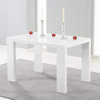 Mark Harris Metz 120cm White High Gloss Dining Table