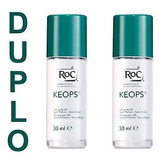 Roc Keops Roll-On Deodorant 30 Ml Alcohol Duplo
