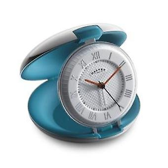 Dalvey Capsule Travel Clock with Teal Interior