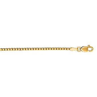 14k Yellow Gold 1.4 mm Box Chain Necklace - Length: 16 to 30