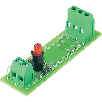 Relay card unequipped 1 pc(s) 4 - 32 Vdc Conrad Components REL-PCB1 0 1 change-over 5 Vdc, 12 Vdc, 24 Vdc