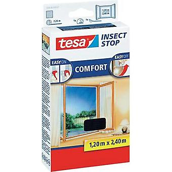 Fly screen tesa Insect Stop Comfort (L x W) 2400 mm x 1200 mm Anthracite 1 pc(s)
