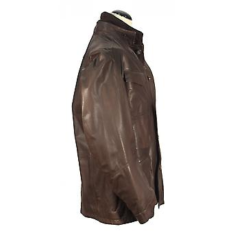 Nogaredo - Brown lamb nappa men coat leather coat jacket leather adventurer