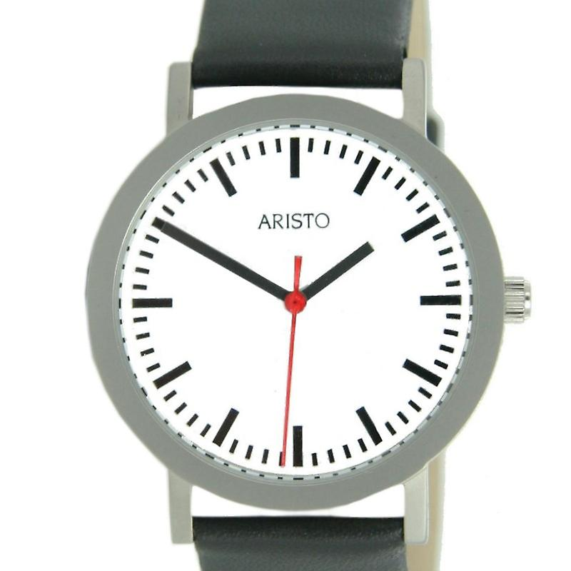 Aristo Men clock station steel 3H03