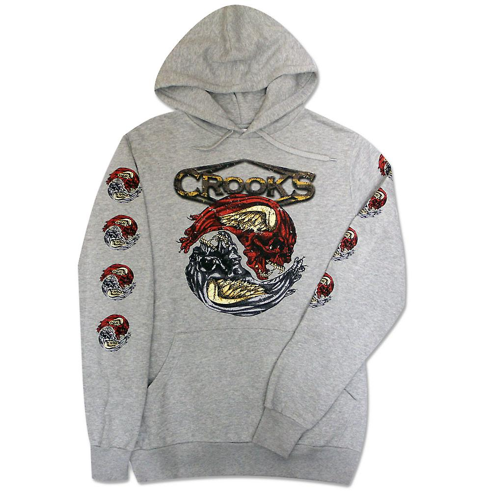 crooks amp castles twin medusa pullover hoodie heather grey