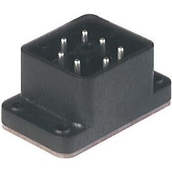 Hirschmann 932 478-100 GO 610 FA M Mounted Connector With Flange Black Number of pins:6 + PE