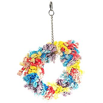 HAPPY PET PAPEGAAI FLOSSIN RING 28X23X8 CM
