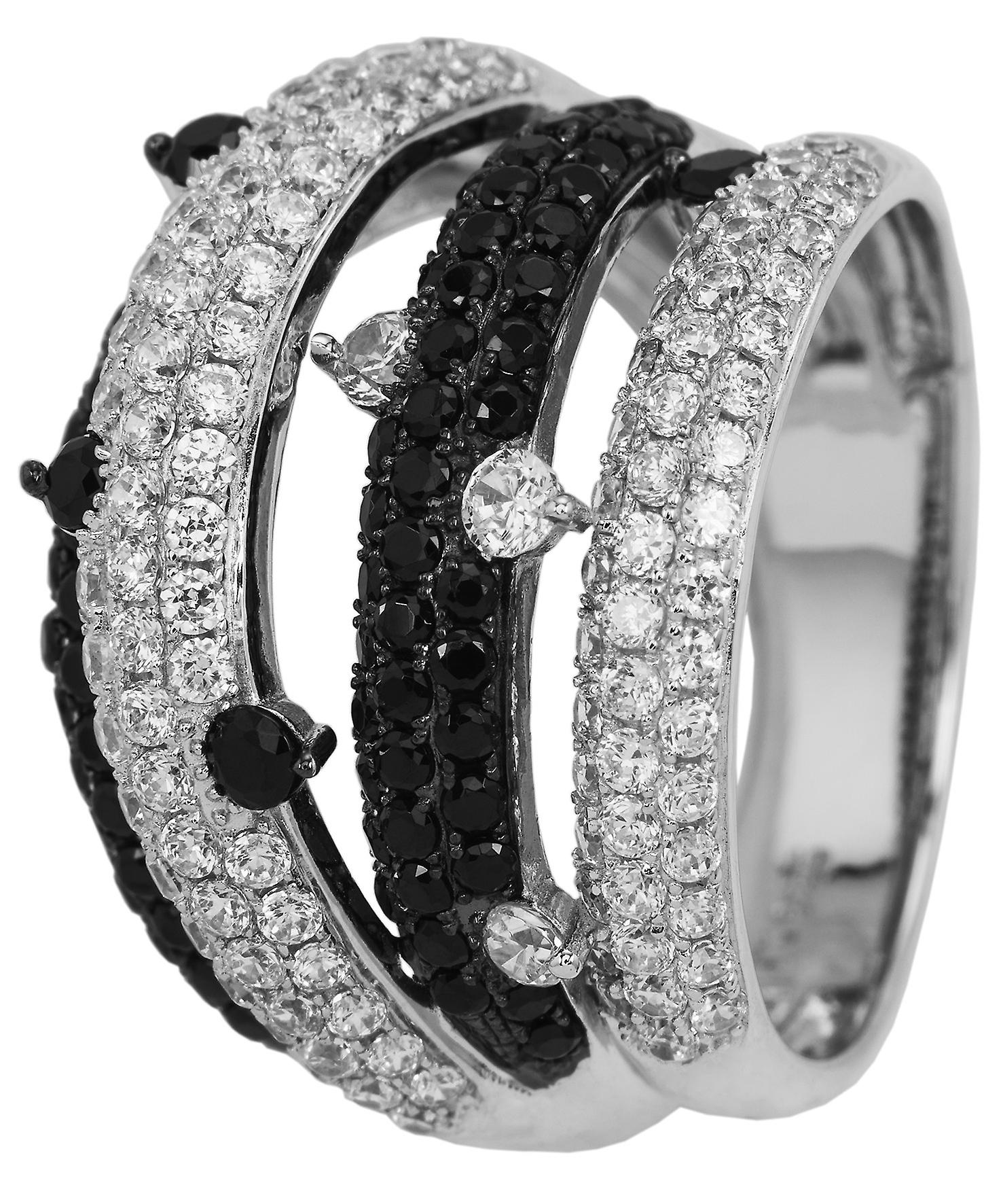 Burgmeister women's ring JBM2014-111, 925 sterling silver rhodanized, white zirconia