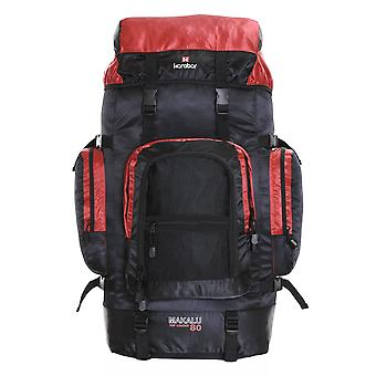 Karabar Makalu 80 Litres voyage sac à dos, noir/rouge