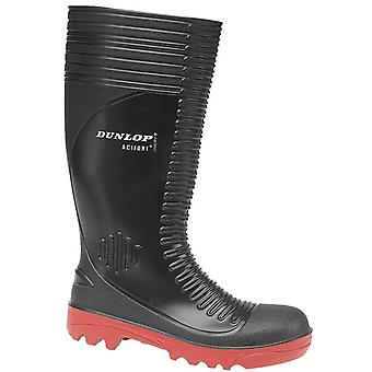 Dunlop A252931 Mens Acifort Ribbed Full Safety Wellingtons Boots PVC Slip On