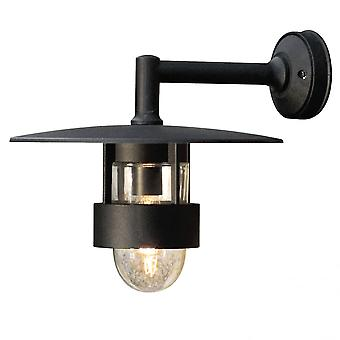 Konstsmide Freja buiten Matt Black Wall Light