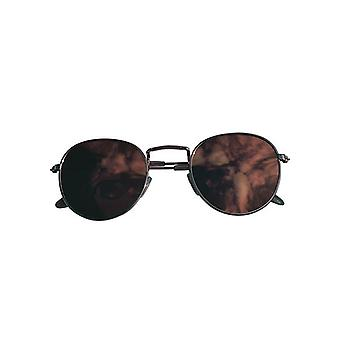 Cool urban sunglasses with pink mirror glass gold