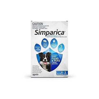 Simparica Med Dog 10.1-20kg Blue 3pk