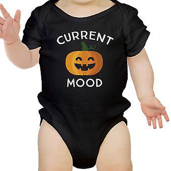 Pumpkin Current Mood Black Bodysuit Halloween Costume First Halloween