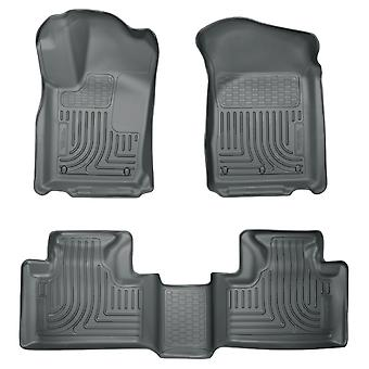 Husky Liners Floor Mats - WeatherBeater 99052 Grey Fits: DODGE 2011 - 2014 DURA