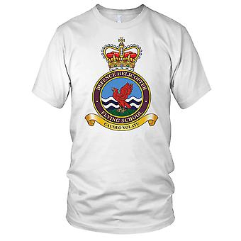 RAF Air Force Defense Helicopter Flying School Ladies T Shirt
