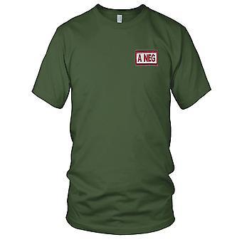 US Army - Patch ricamato di sangue di tipo A negativo deserto versione A - Hook e Loop Kids T Shirt