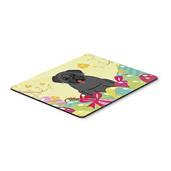 Carolines Treasures  BB6006MP Easter Eggs Pug Black Mouse Pad, Hot Pad or Trivet