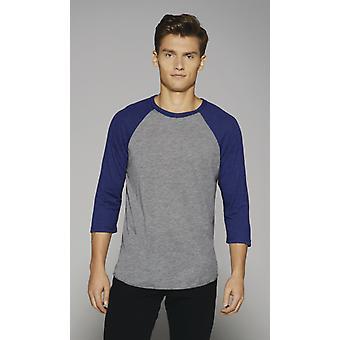Canvas 3/4 Sleeve Baseball T-Shirt-CA3200