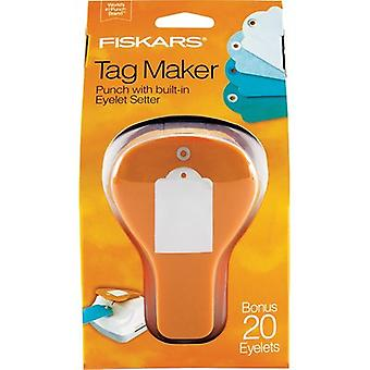 Fiskars 3-In-1 Tag Maker Punch-Standard 197500