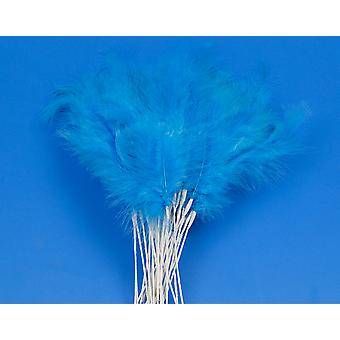 36 Blue Feather Spray Picks for Floristry & Craft Projects