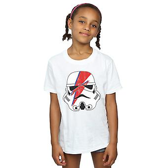 Star Wars Girls Stormtrooper Glam Lightning Bolt T-Shirt