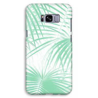 Samsung Galaxy S8 Plus Full Print Case (Glossy) - Palm leaves