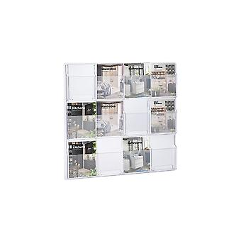 12 Pocket A5 Leaflet Holder - Wall Mounted