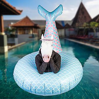 Flotador de piscina gigantesca sirena