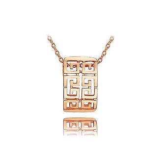 Rose Gold Womens Necklace Roman Modern Design