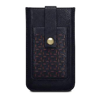 Covert Apple iPhone 6/6S Lexi Perforated Pattern Pouch Case Card Holder-Black
