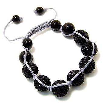 Unisex bling bracelet - DISCO BALL helped black