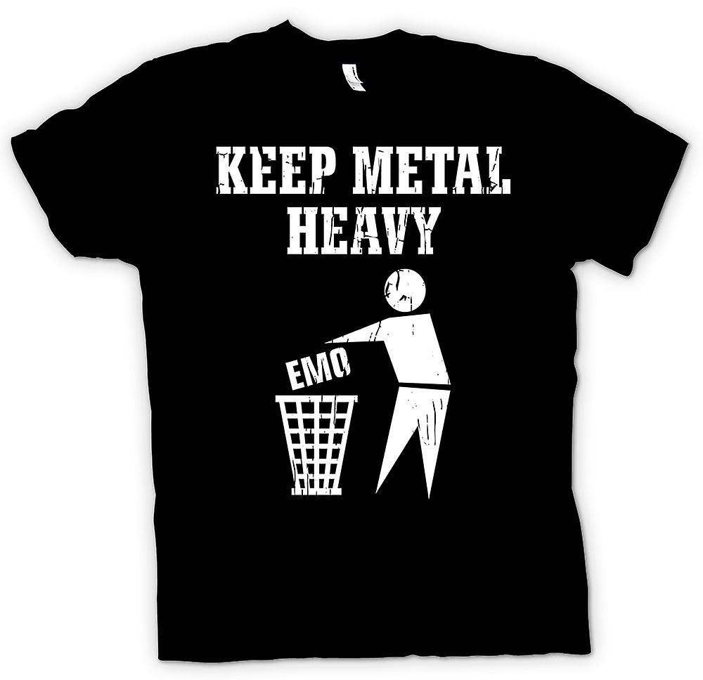 Mens T-shirt - Keep Metal Heavy - Bin EMO
