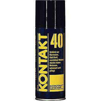CRC Kontakt Chemie 79009-AA CONTACT 40 displaces moisture and protects 200 ml