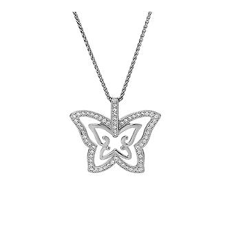 Orphelia Silver 925 Chain With Pendant Butterfly With Zirconium  ZH-7341