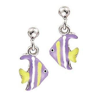Scout children earrings ear cutter silver fish purple yellow girl 262118100