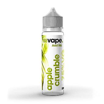88 Vape Shortfill E-Liquid Apple Crumble Zero Nicotine 50ML of 0mg in 60ML Bottle