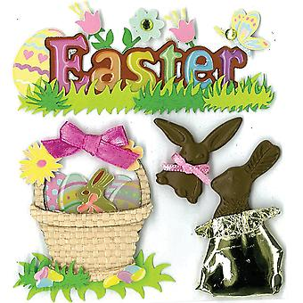 Jolee's Boutique Dimensional Stickers-Easter Chocolate Bunnies