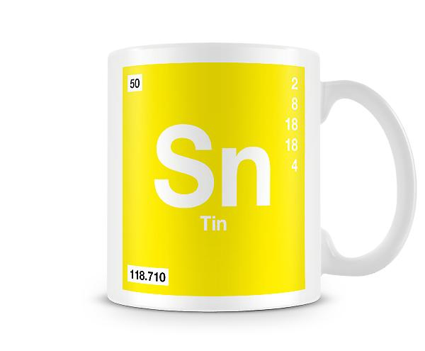 Element Symbol 050 Sn - Tin Printed Mug