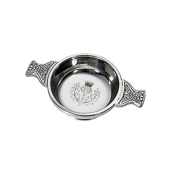 Celtic Thistle Standard Pewter Quaich