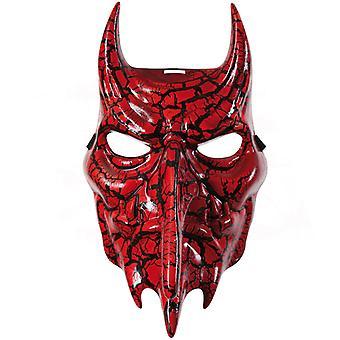 Demone di orrore maschera diavolo metà Maschera Halloween nero rosso