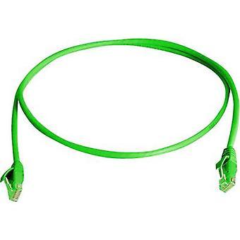 Telegärtner RJ45 Networks Cable CAT 6 U/UTP 1 m Green Flame-retardant, Halogen-free