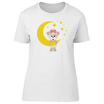 Girly Dog And The Moon Tee Women's -Image by Shutterstock
