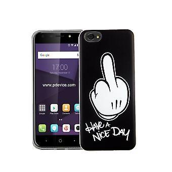Mobiele telefoon geval voor ZTE mes Lite A6 middelvinger Smartphone cover bumper shell gevallen