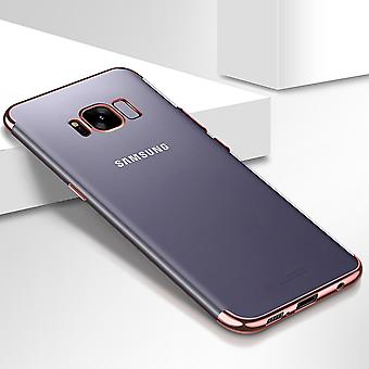 Handy Hülle Schutz Case für Samsung Galaxy S6 Edge Durchsichtig Transparent Rose Pink