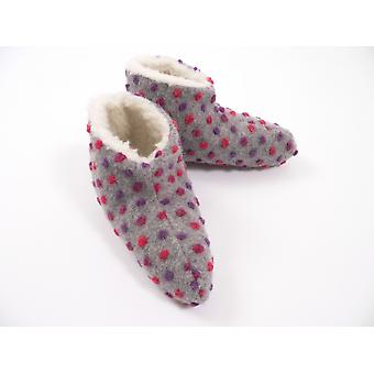 Bed shoes wool studs silver 42/43